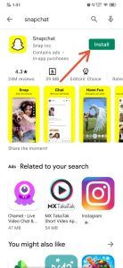 Snapchat install
